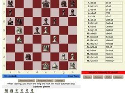 A WebChess game in action