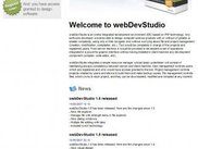 WebDevStudio main screen