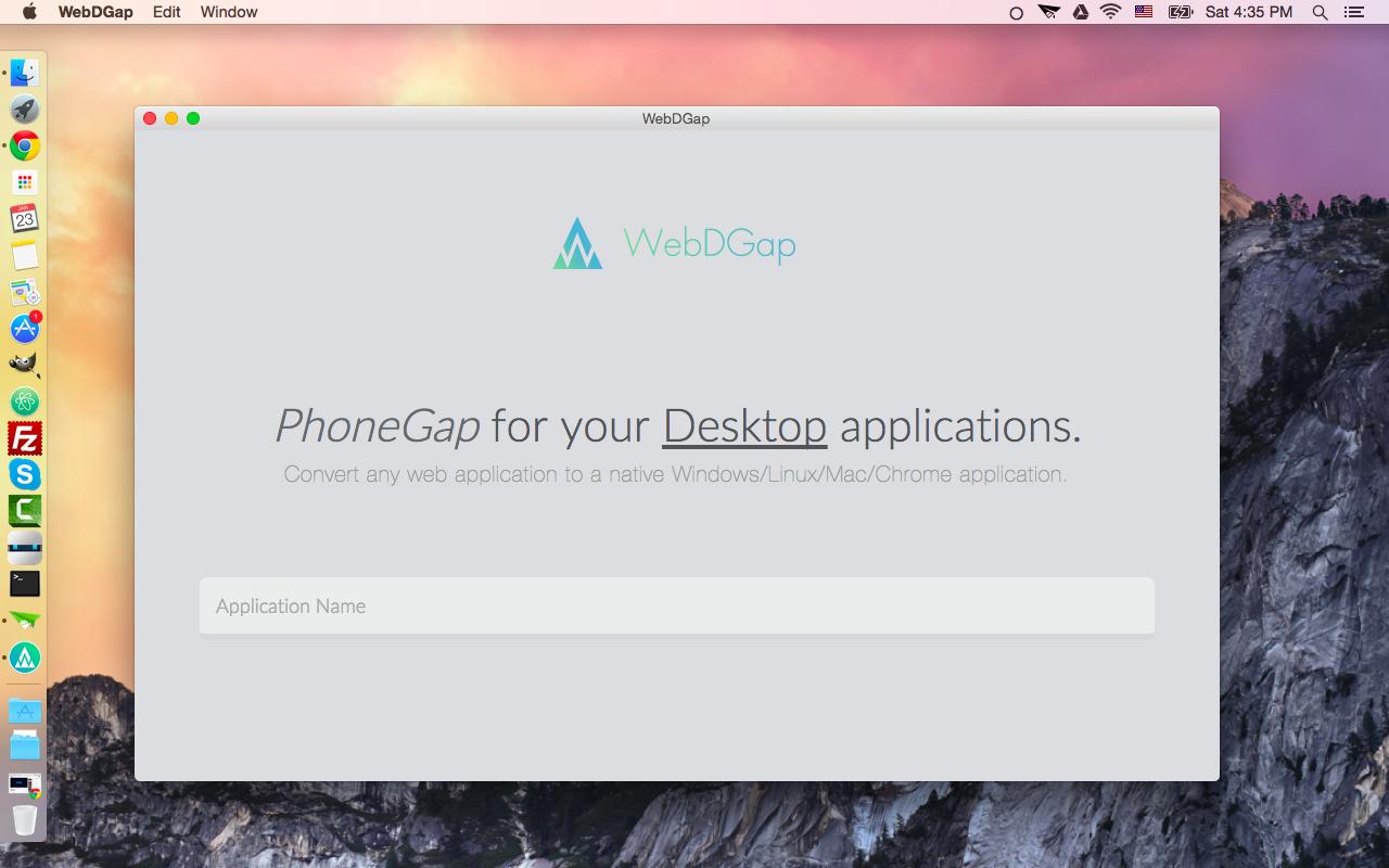 The WebDGap Application
