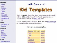 The KidKit Welcome Page