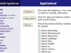 The Application Control Servlet