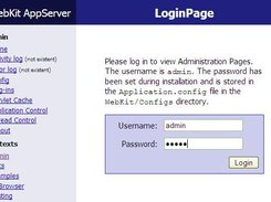 The Admin Login Page
