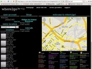 where2go user interface - search result