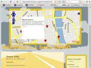 WikiMap highway theme with read more popup.