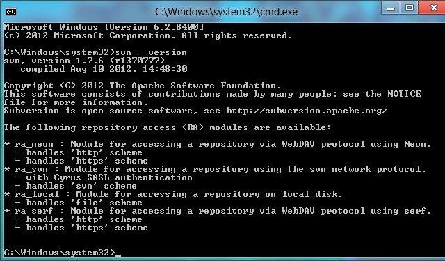 Subversion for Windows download | SourceForge net