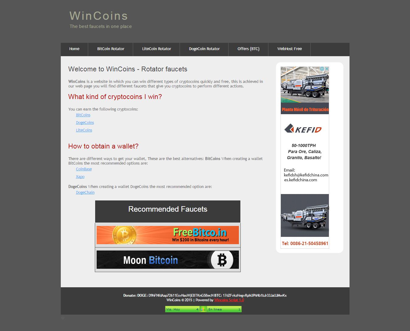 WinCoins Faucet Rotator Script download | SourceForge.net