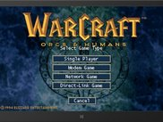 Main menu running in WinRT simulator