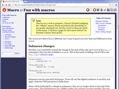 Namespace page in Chrome