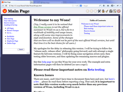 A user written page in Firefox