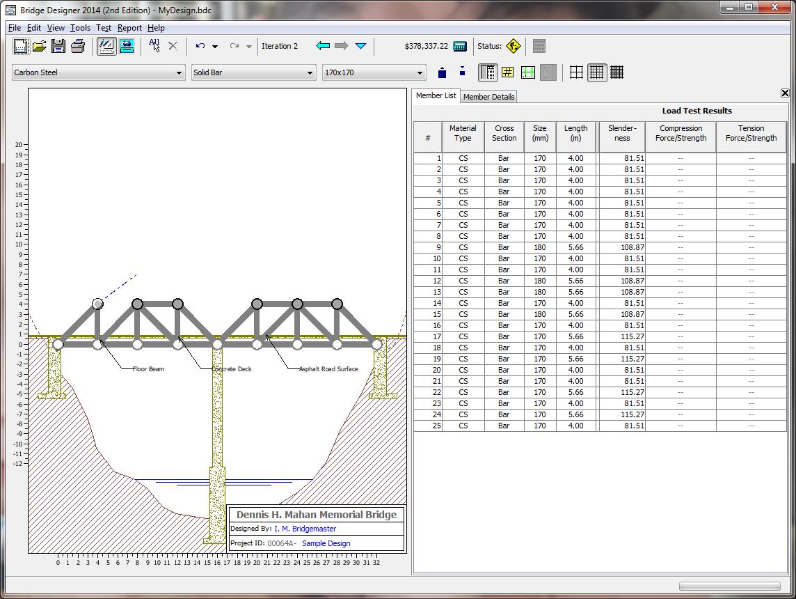 Bridge designer and contest download for Bridge design