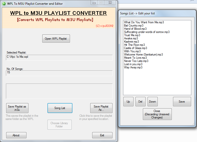 WPL To M3U Converter download | SourceForge net