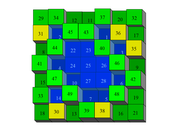 Associative Magic Square of Order 7 (Retention 361)