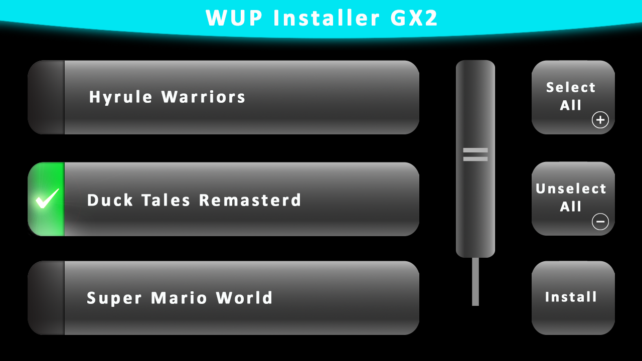 WUP Installer GX2 download | SourceForge net
