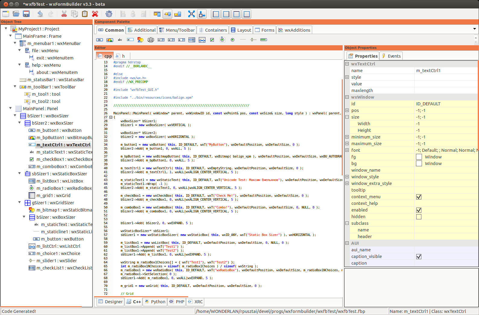 wxFormBuilder download | SourceForge net
