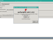 wxPackJPG 1.0 running on FreeBSD/TWM