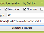 Password Generator with some nice options
