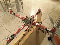 Copter structure and test support frame