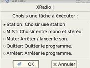XDRadio main window in French