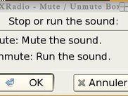 XDRadio mute window