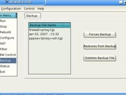 XFwall Firewall - Backup Screen