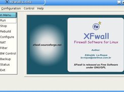 XFwall Firewall - Main Screen