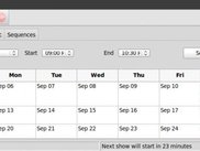 xLights Scheduler on Linux - showing calendar