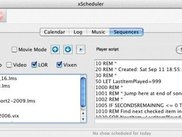 xLights Scheduler on a Mac - showing a playlist