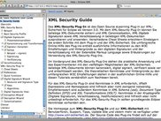 Online help of the XML-Security Plug-In