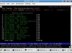 XMMS2SWI playlist in lynx text mode browser