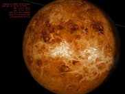 Venus seen  from the earth