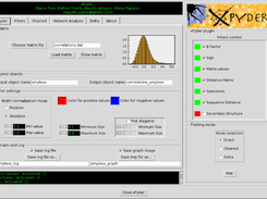 xPyder's interface, showing plotting options and filter status
