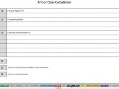 Armor Class Calculations Detail Page
