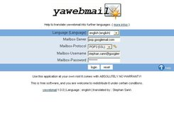 Logon to yawebmail