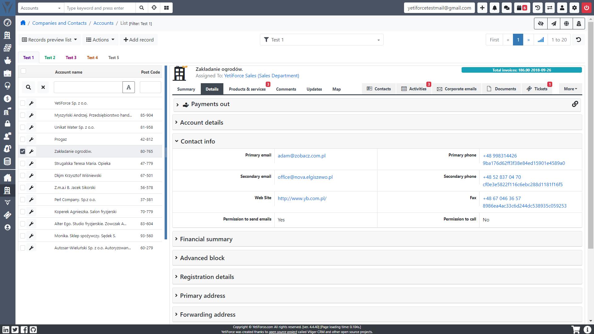 YetiForce CRM download | SourceForge net