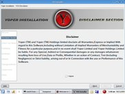 Yoper Installer - Disclaimer Section