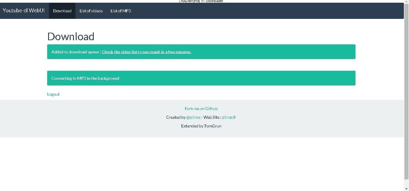Youtube-dl WebUI extended download | SourceForge net