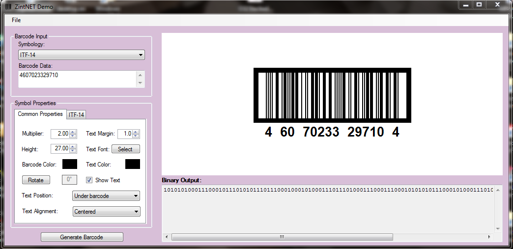ZintNET - Barcode Library download | SourceForge net