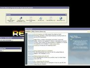 Old-style desktop showing multiple applications running.