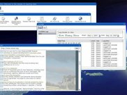 A sample desktop showing multiple applications running.