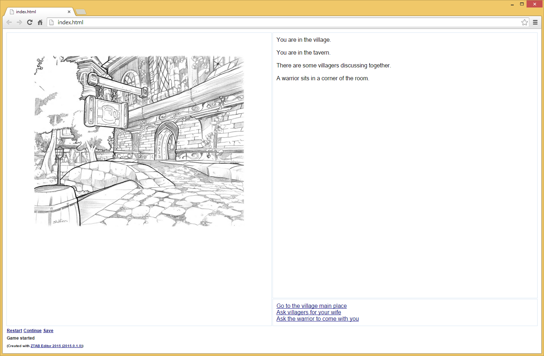 """ZTAB : Editeur de jeux """"livre dont vous êtes le héros"""" ZTAB_Playable_HTML"""