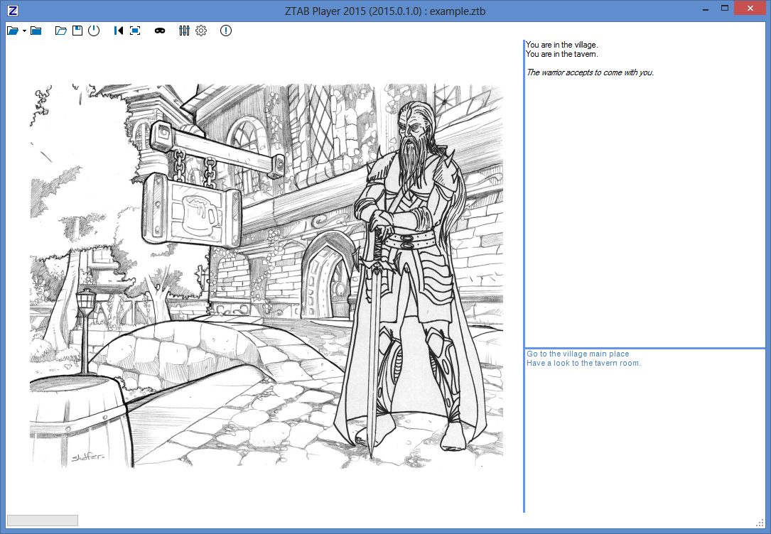 """ZTAB : Editeur de jeux """"livre dont vous êtes le héros"""" ZTAB_Player"""