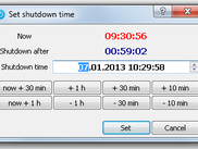 Shutdown time setup dialog on WinXP.